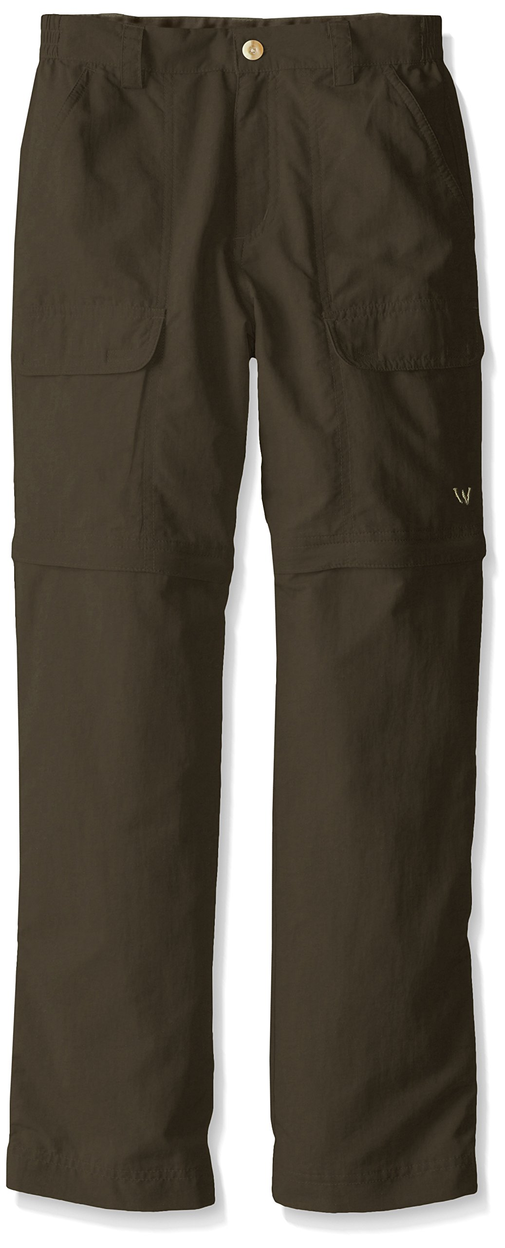 White Sierra Youth Trail Convertible Pants, Dark Sage, Large