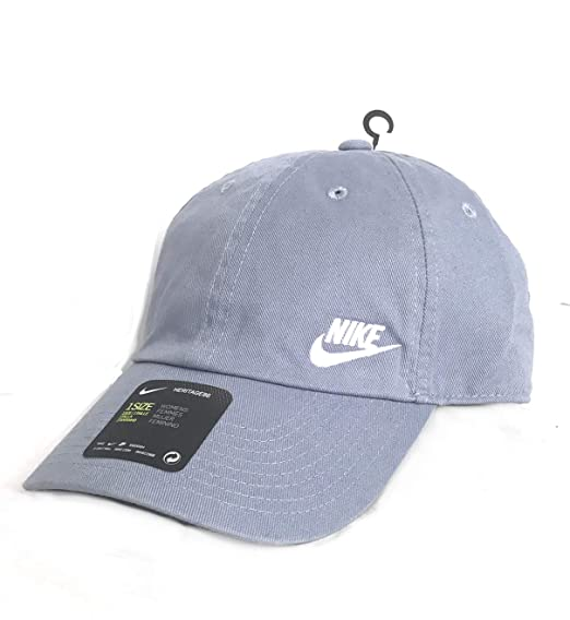 fe40fa69516 NIKE Women s Heritage 86 Swoosh Hat (One Size) (Slate Grey Purple ...