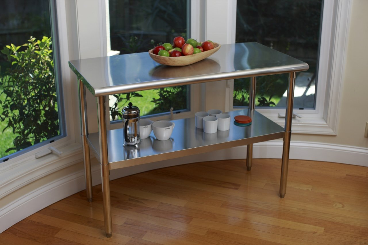 TRINITY EcoStorage NSF Stainless Steel Table, 48-Inch by Trinity