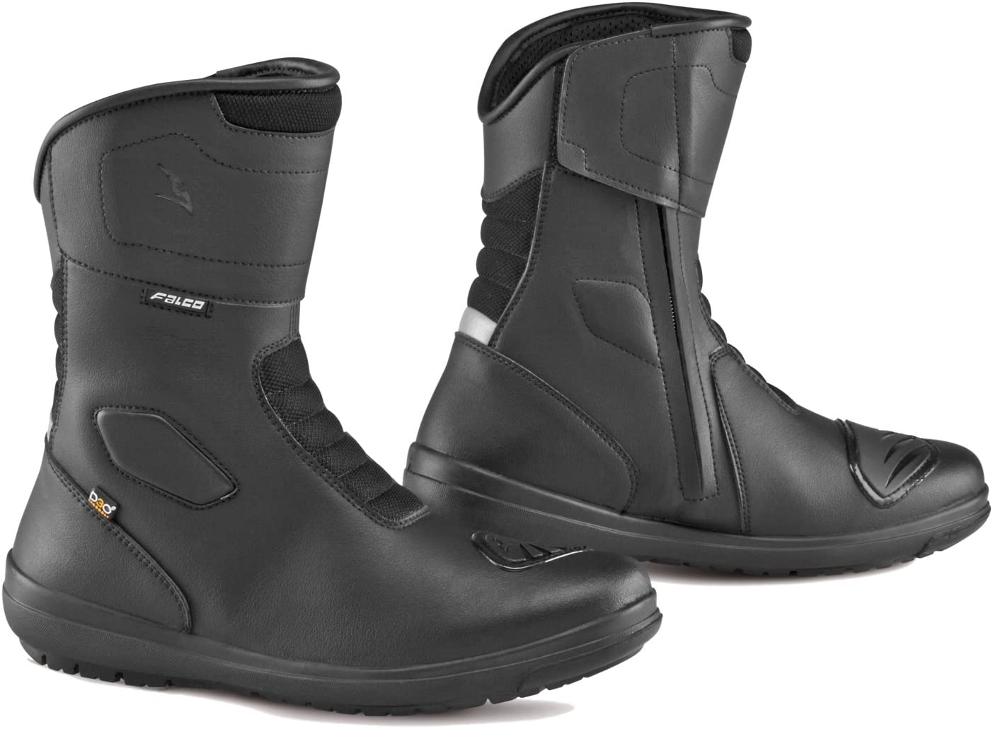 Falco Libertad 2.1/Carretera Estilo CE Aprobado Resistente al Agua para Moto Botas Negro