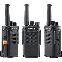 Retevis RT67 Radios de Comunicacion Largo Alcance, Batería de 3000 mAh, sin Licencia, Mini Walkie Talkie con Linterna…