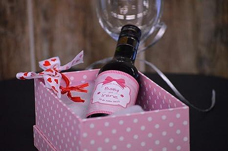 Botellas De Vino Para Regalar En Bautizos.Botella Personalizada Vino Para Regalo Bautizo Baby Girl