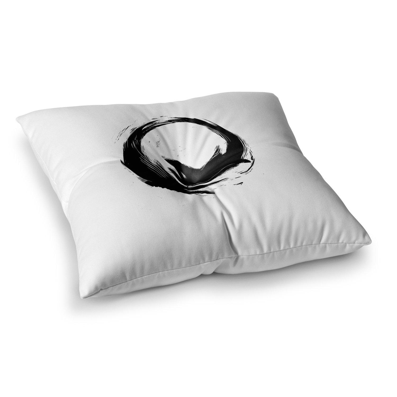 Kess InHouse BarmalisiRTB Good Day Black White Digital 23 x 23 Square Floor Pillow