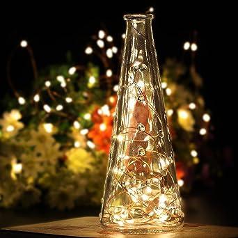 Batterie Weihnachtsbeleuchtung Aussen.2 Stück 60er Micro Led Lichterkette Draht Batterie Betrieben Kupferdraht Lichterketten Mit Timer Warmweiß Wasserdicht Für Innen Und Außen