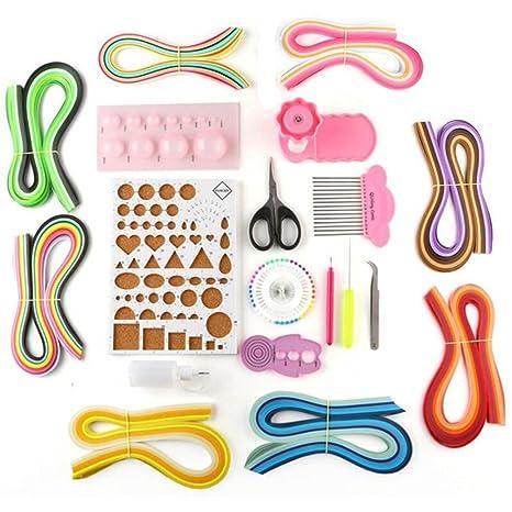 lesirit papel Quilling Kit de manualidades DIY Junta molde crimpadora peine herramientas