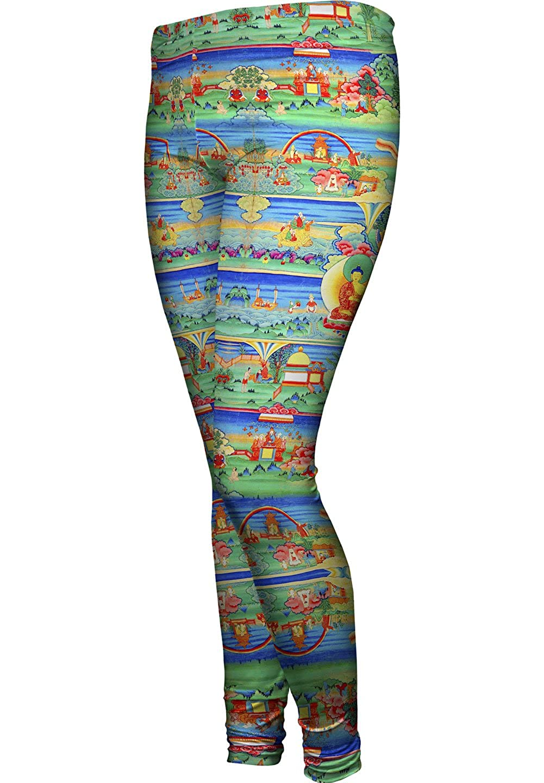 Yizzam Bhutanese Painted Thanka of The Jat -New Ladies Womens Leggings 2663