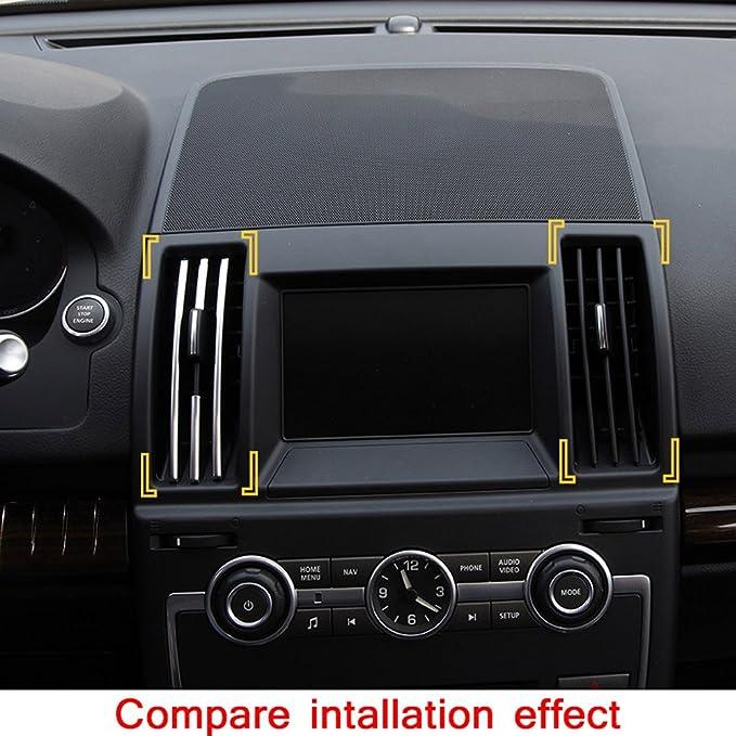 8 Kunststoff chrom innen Center Klimaanlage Vent Steckdosenleisten Trim f/ür Freelander 2 2008-2015 Auto Zubeh/ör