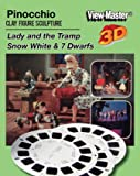 Classic ViewMaster- Pinocchio, Lady and the Tramp, Snow White - ViewMaster Reels 3D- unsold store Stock- Never Opened