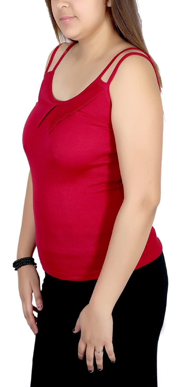 Q-rious Womens Collar Camisoles Pack Of 2