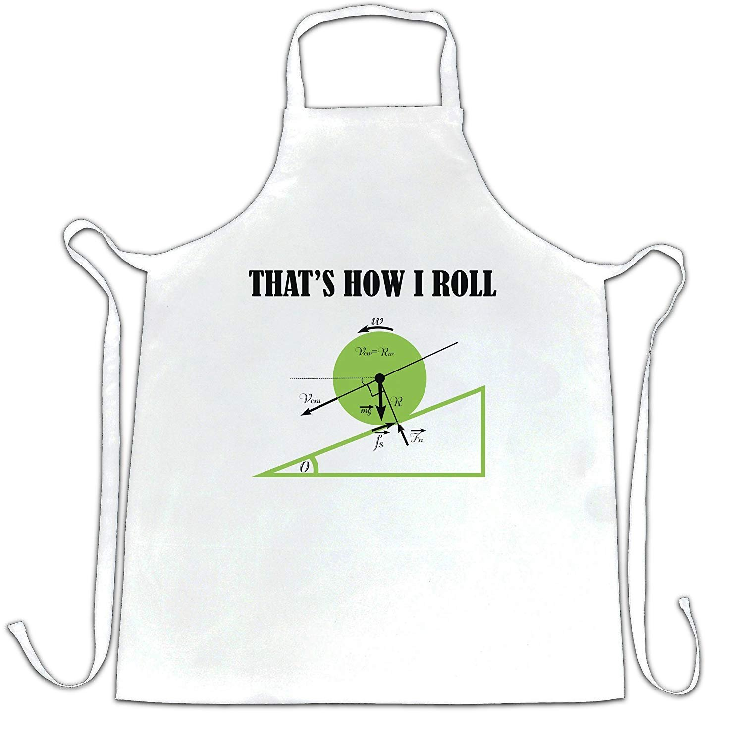 That's How I Roll Funny Geeky Math Design Printed Physics Novelty Just Nerd Teacher Idea College Student Homework Geometry Core Mathematics Geek Apron Kitchen BBQ Cook Cool Birthday Gift Present