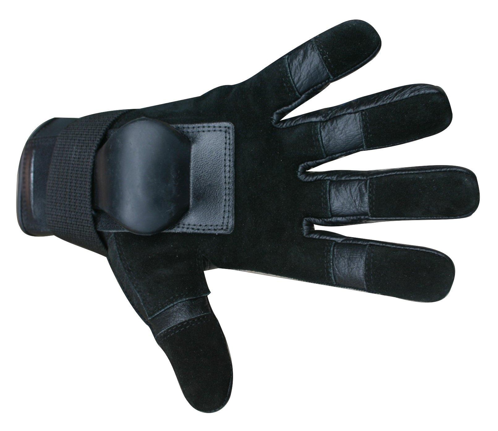 Hillbilly Wrist Guard Gloves - Full Finger (Black, Medium)