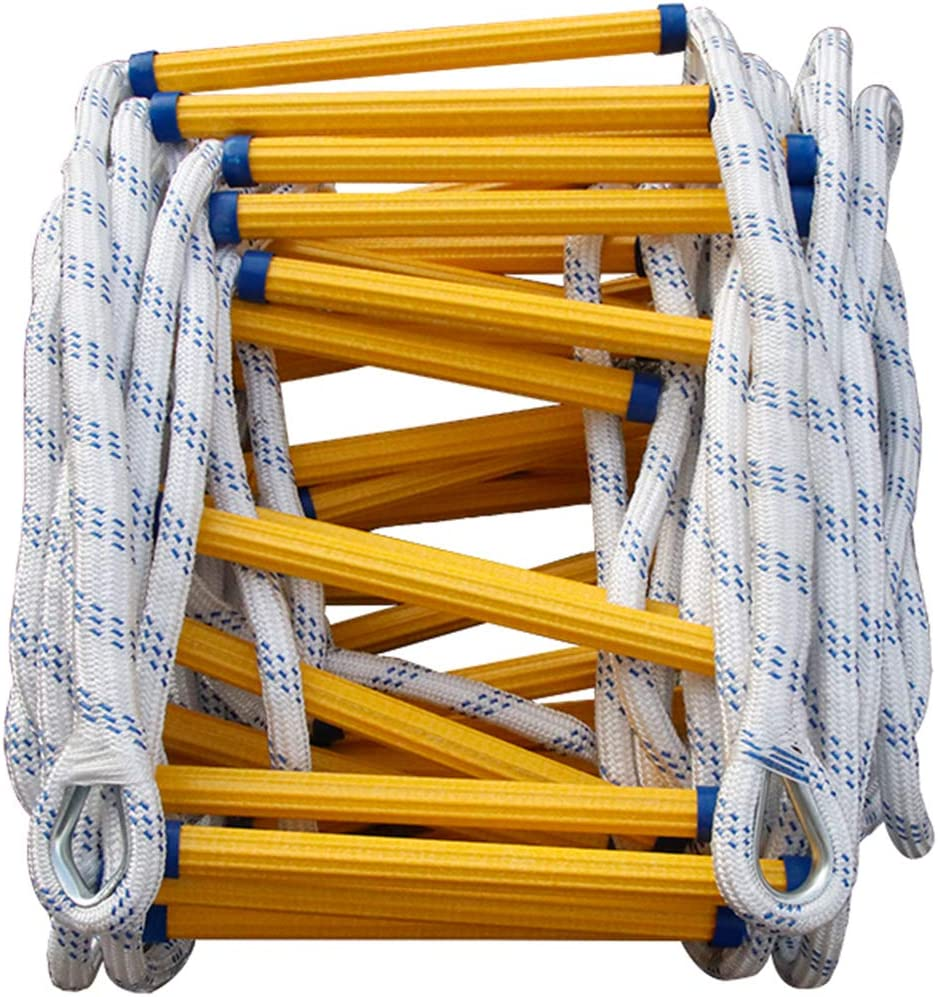 YYHJ Emergency Fire Window Rope Ladder,Reusable Flame Resistant Safety 2-17 Story Homes Ladder Simple to Use Great for Indoor or Outdoor Play Set, Tree House, Playground