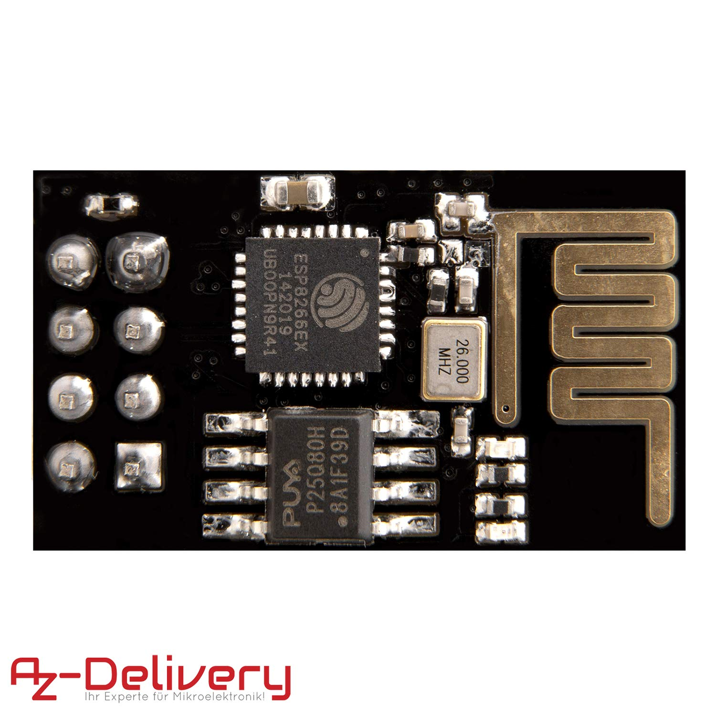 AZDelivery ESP8266 ESP-01S Modulo Wifi para Arduino y Raspberry Pi ...