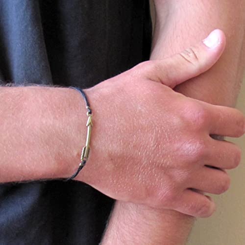 Amazon Com Mens Bronze Arrow Cord Bracelet Men S Customize Color