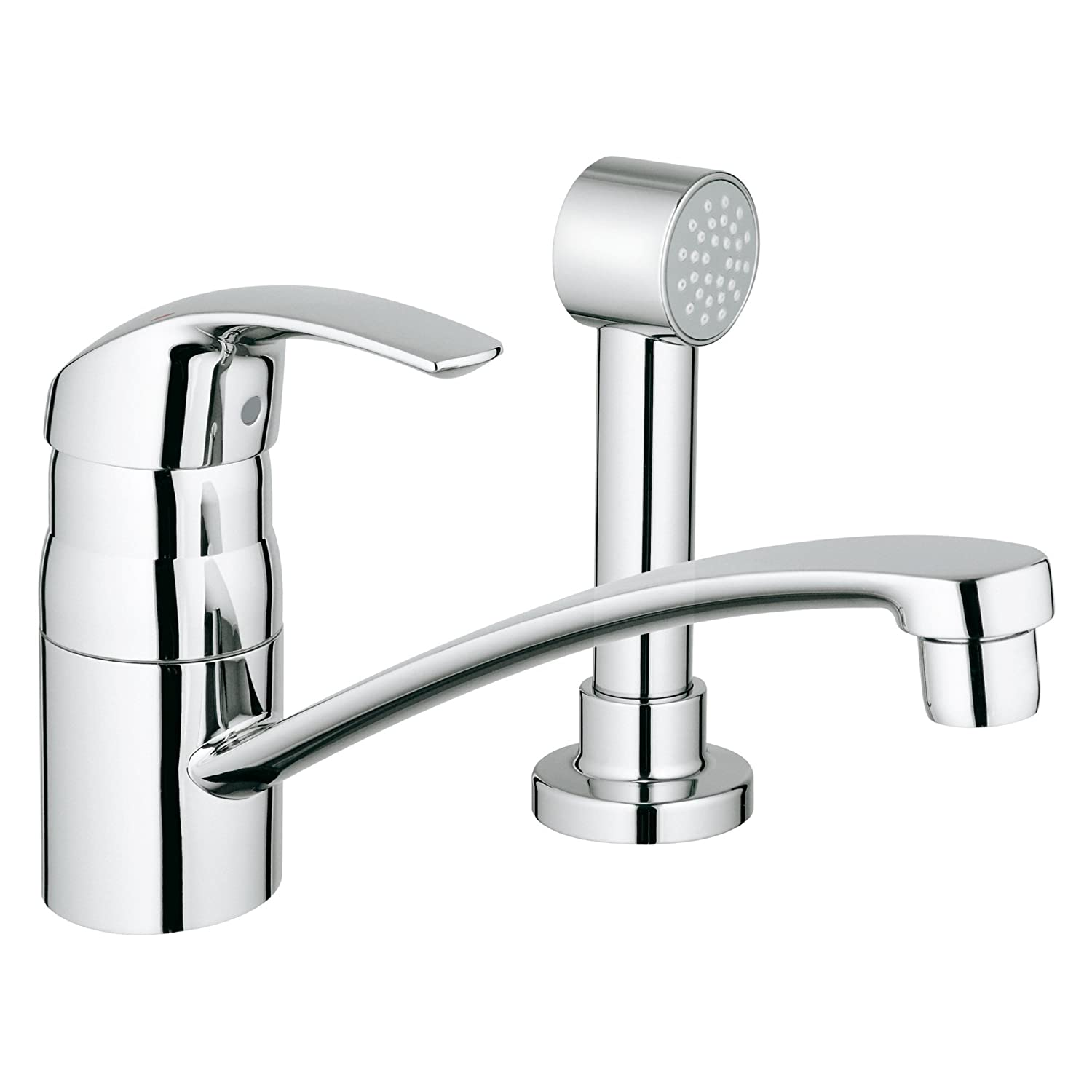 Eurosmart Centerset Single Handle Kitchen Faucet With Side Spray   Touch On  Kitchen Sink Faucets   Amazon.com