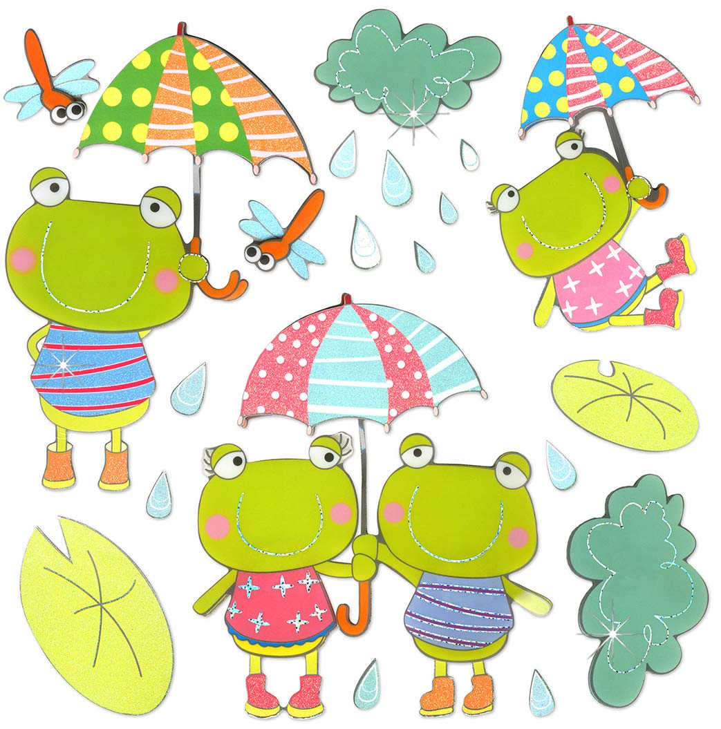 3D Giant Frog Stickers Frog Decorations Party Kids Wall Decals Classroom Decorations for Teachers Bulletin Board Decorations Boys Bedroom Decor Baby Wall Decor Wall Clings for Homeschool Preschool