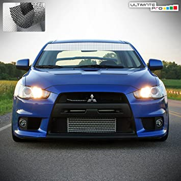 Windshield banner sun visor strip decal sticker vinyl compatible with mitsubishi evo x 2007 2016