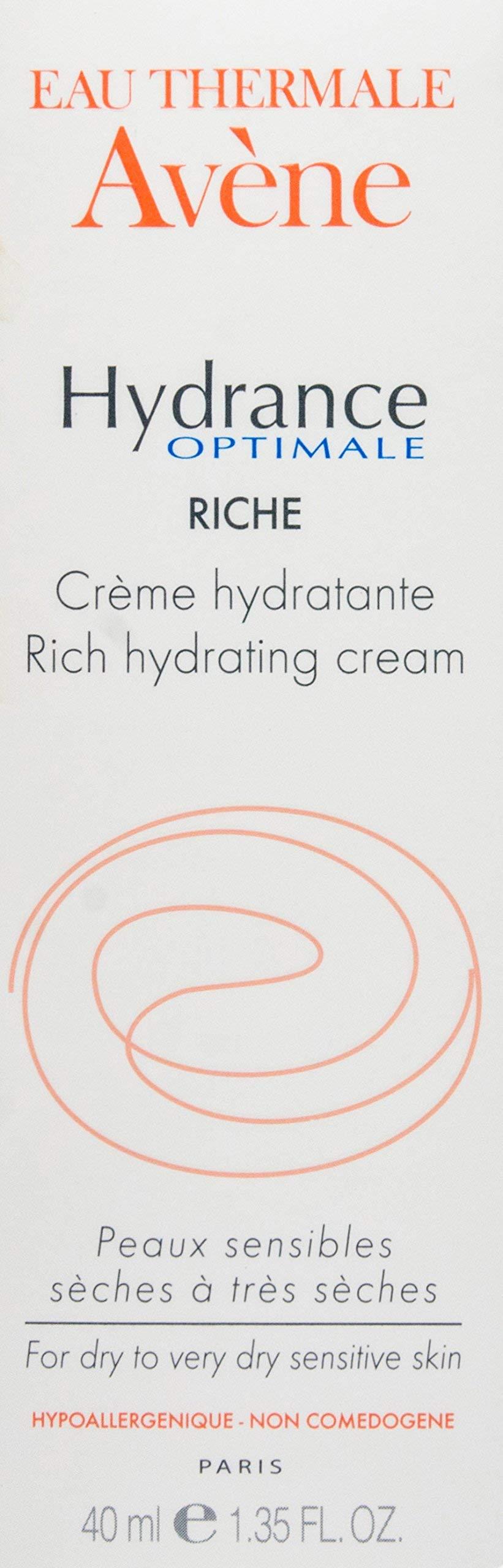 Eau Thermale Avene Hydrance RICH Hydrating Cream, Daily Face Moisturizer, Non-Comedogenic, 1.3 oz.