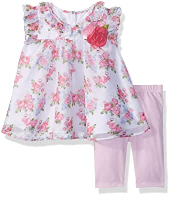 dc72a71e41508 Amazon.com: Marmellata Baby Girls' Ruffle Sleeve Top and Leggings Outfit  Set: Clothing