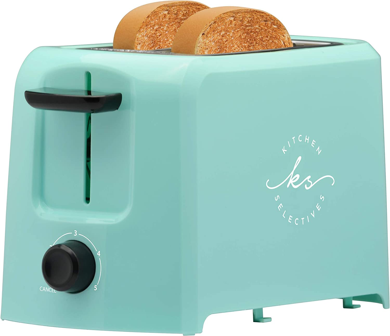 Kitchen Selectives Mint Green 2 Slice Toaster