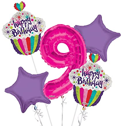 Image Unavailable Not Available For Color Happy Birthday Balloon Bouquet 9th