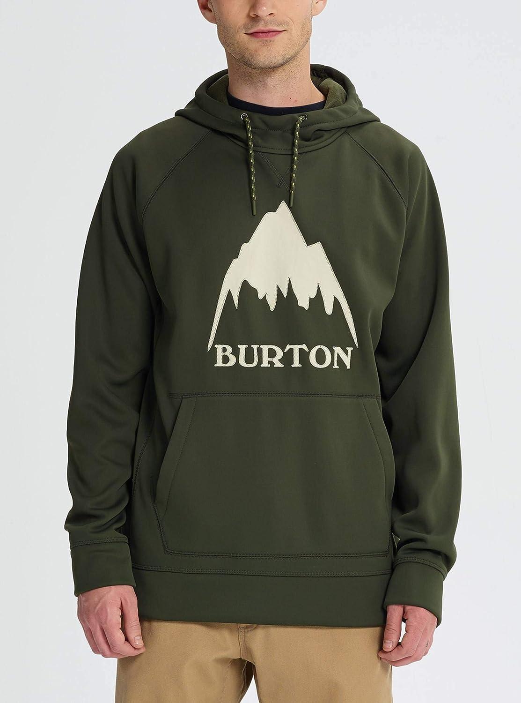 Burton Herren Crown Bonded Pullover Hoodie Sweatshirt Forest Night