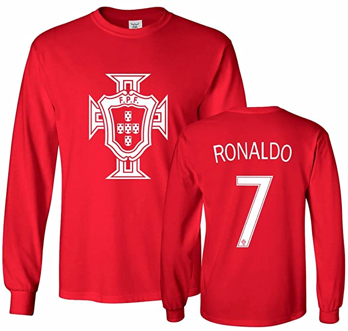 Tcamp Portugal Soccer Shirt Cristiano Ronaldo  7 Jersey Men s Long Sleeve T- shirt ba4d71615