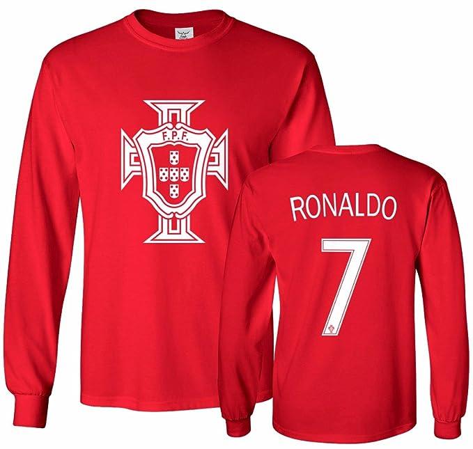06ffd722ce3 Amazon.com: Tcamp Portugal Soccer Shirt Cristiano Ronaldo #7 Jersey Men's  Long Sleeve T-shirt: Clothing