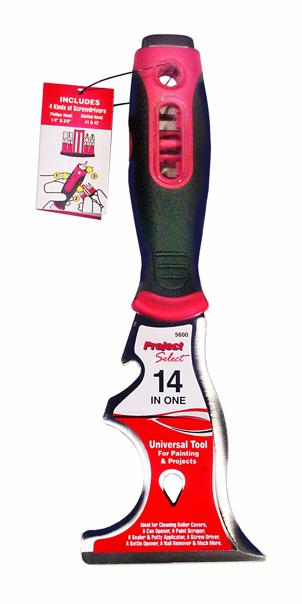 Linzer #5600 14-in-1 Paint Tool. Red with Black Handle by Linzer