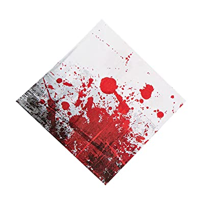 Fun Express - Zombie Party Lunch Napkin (16pc) for Halloween - Party Supplies - Print Tableware - Print Napkins - Halloween - 16 Pieces: Toys & Games