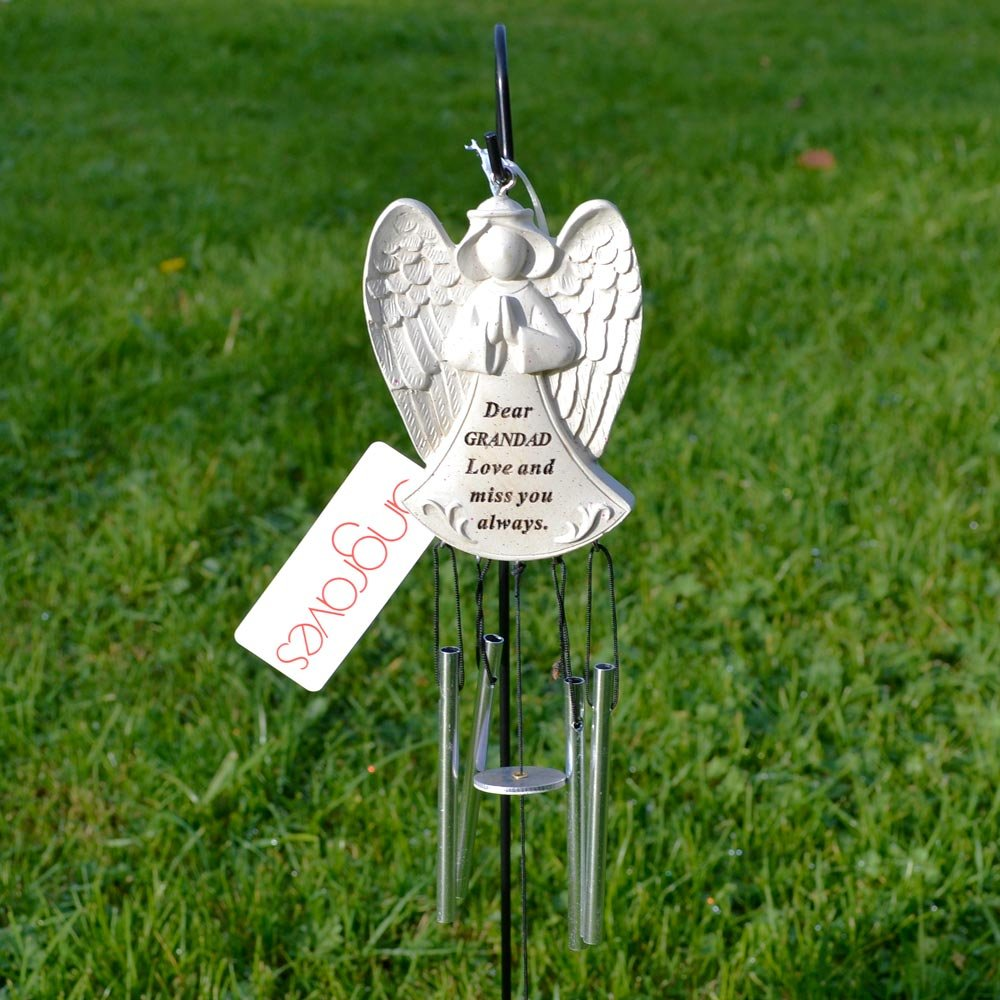 Dear Dad Guardian Angel Love /& Miss You Graveside Memorial Wind Chime New