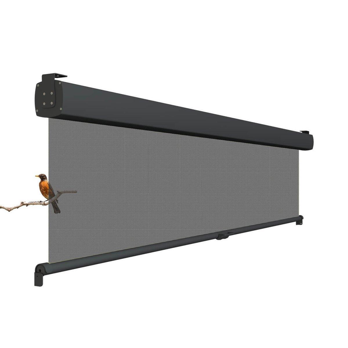 LuxxOut Seitenmarkisen Vita - Sonnen-, Regen- oder Sichtschutz, mit Transpiranten Soltis Tuch, horizontale Montage, 300cm breit x 260 cm ausrollange (300x260)