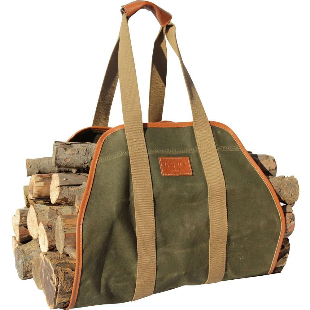 INNO STAGE Waxed Canvas Log Carrier Tote Bag,40