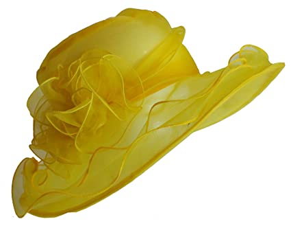 Image Unavailable. Image not available for. Colour  Caprilite Fashion  Mustard Yellow Hat Fascinator Wedding Ladies Day ... 01e0fbca1007