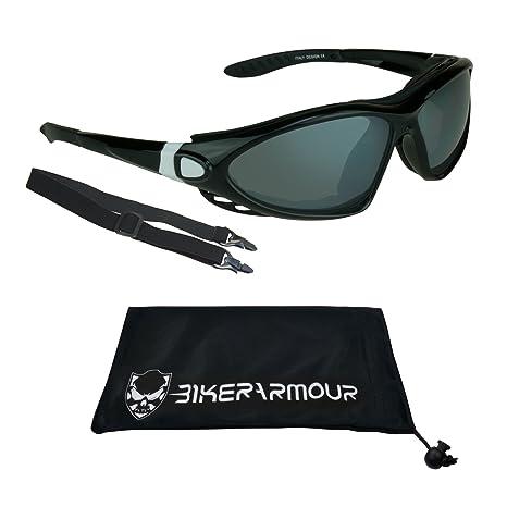 Amazon.com: Espuma de Motocicleta anteojos de sol con lentes ...