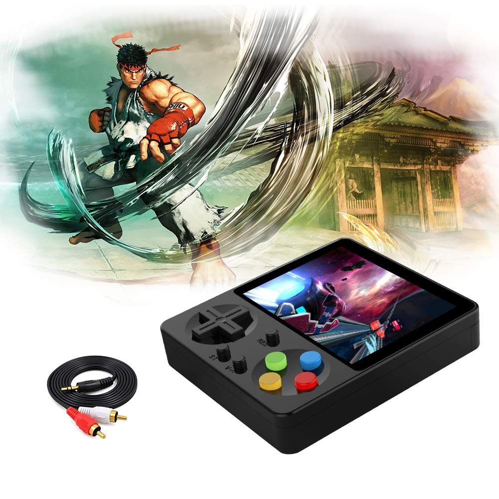 LFJSTECH Handheld Game Console, 333 Classic Games 3 Inch LCD Screen Portable Retro Video Game Console Support for Connecting TV and Two Players, Good Gifts for Kids and Adult. (Black) by LFJSTECH (Image #2)