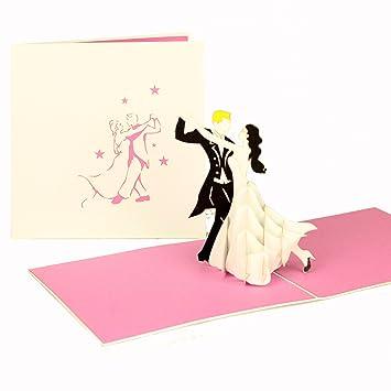 Grußkarte U0026quot;Tanzendes Paaru0026quot;   3D Hochzeitskarte, Einladungskarten  Hochzeit, Hochzeitskarten, Hochzeiteinladung