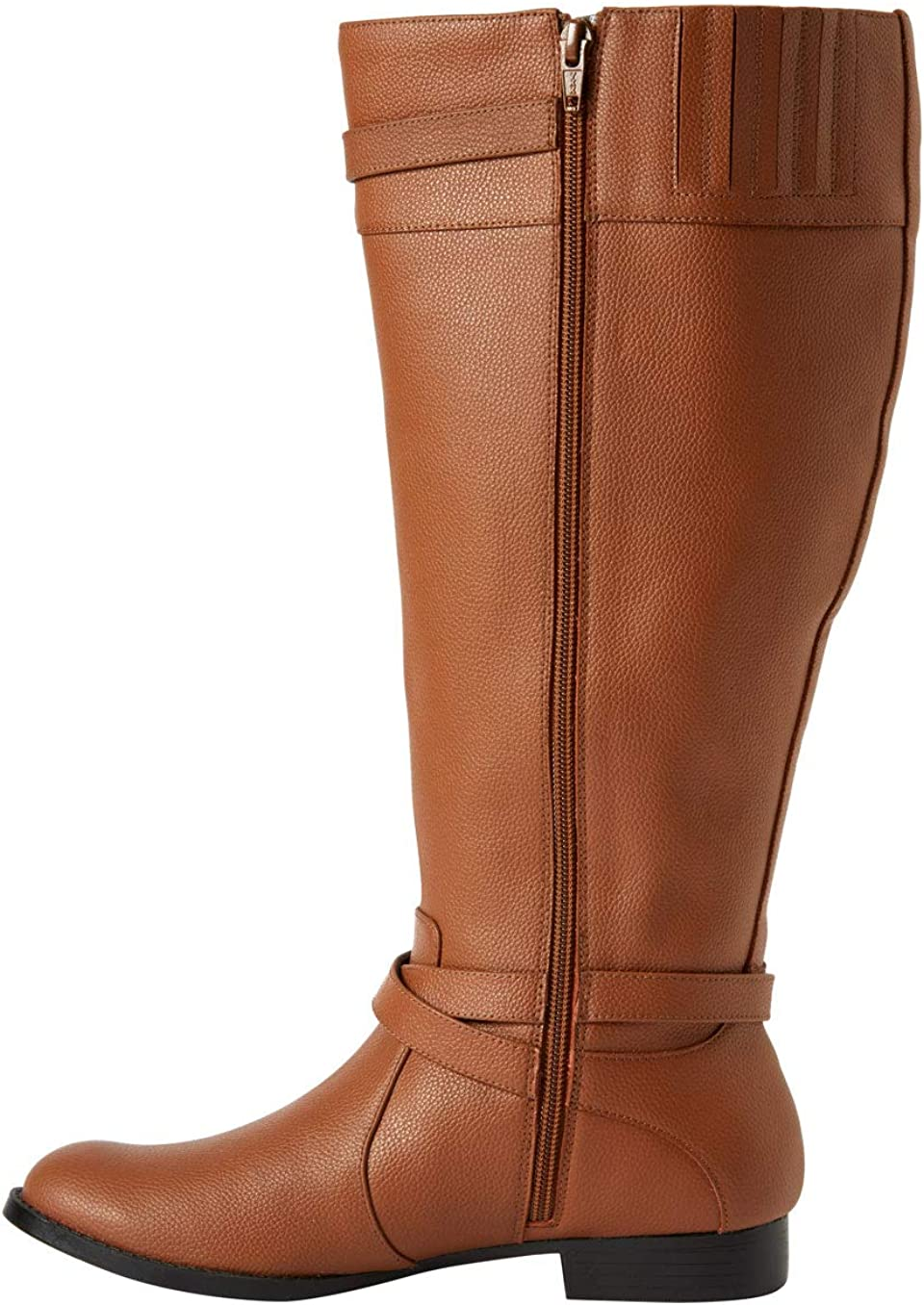 Comfortview Womens Wide Width The Janis Wide Calf Leather Boot