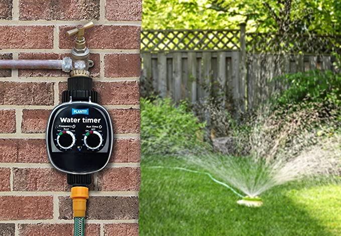 PLANT!T 01-045-125 Temporizador de Agua, Negro, 11x10x16 cm ...