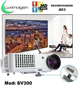 proyector Luximagen SV300 con TDT, USB, HDMI, VGA, AC3, 2 años de ...