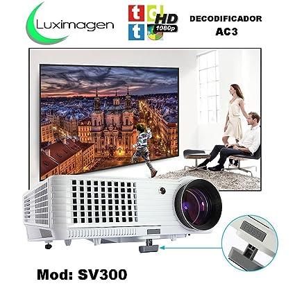 proyector Luximagen SV300 con TDT, USB, HDMI, VGA, AC3, 2 años de garantía