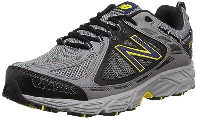New Balance Men\u0027s Mt510 Trail Trail Running Shoe,Grey/Yellow,8 ...