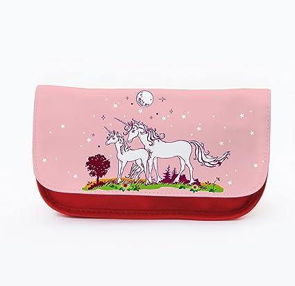 Carpeta Funda Muelle stiftet cenizas estuche Neceser Unicornio unicornios en la pradera luna estrella cielo color