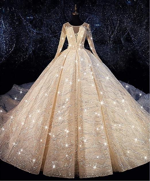 Vestido de novia Lentejuelas de lujo balón vestido de boda vestido ...
