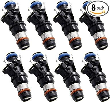 Fuel Injectors For GMC Chevrolet Cadillac 4.8L 5.3L 6.0L 17113553 4 hole 8 Set