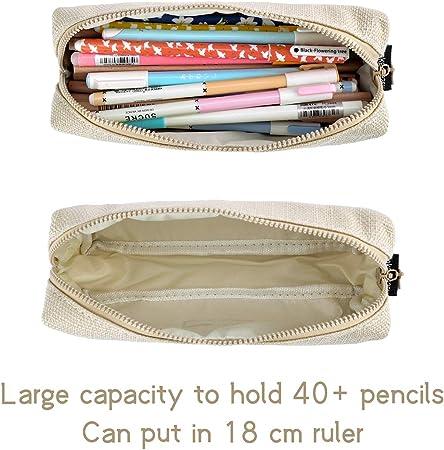 iSuperb Estuche Escolar Pequeña Bolsa para Lapices Estudiante Plumier Colegio Color Sólido 19,8 X 8 X 5cm: Amazon.es: Oficina y papelería