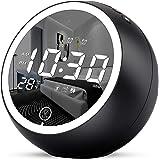 Uplift Alarm Clock Radio,Bluetooth V5.0,Hi-Fi Speaker,Dual Alarms with Snooze,Digital Display with dimmer,Dual USB…