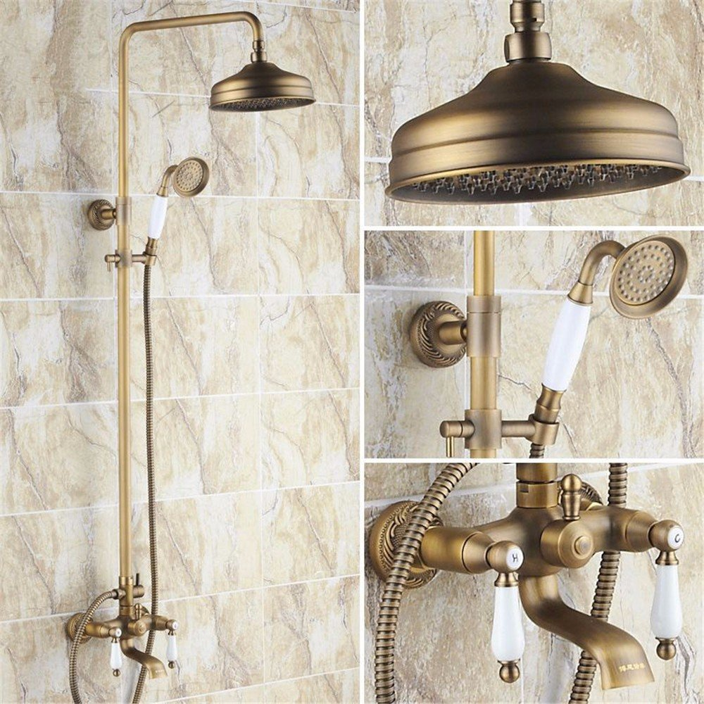 B Shower taps, antique shower set, all copper European style shower, bathroom taps, lifting belt redation,B