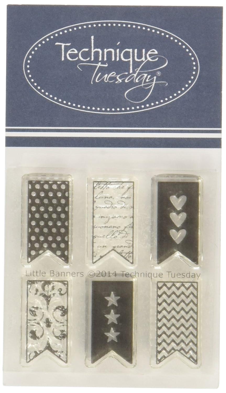 Technik Dienstag Little Banner Briefmarken, 5,1cm von 6,3cm klar 1cm von 6 3cm klar Technique Tuesday LITBA
