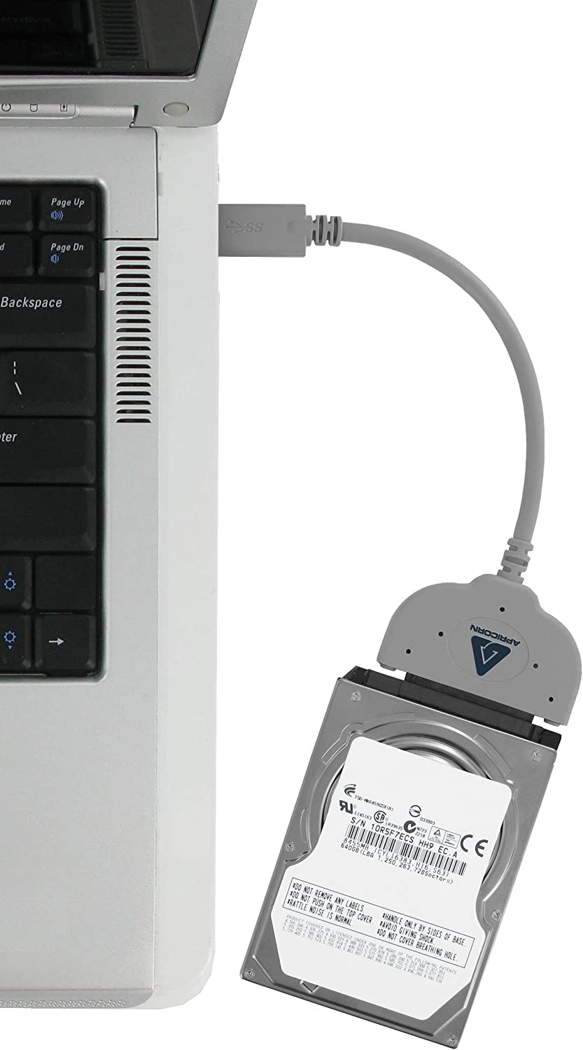 Grey Apricorn SATA Wire Notebook Hard Drive Upgrade Kit with USB 3.0 Connection ASW-USB3-25
